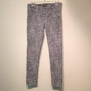 Paige grey snow leopard print jeans